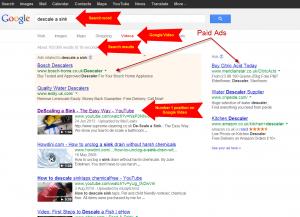 Descale sink Google video #1